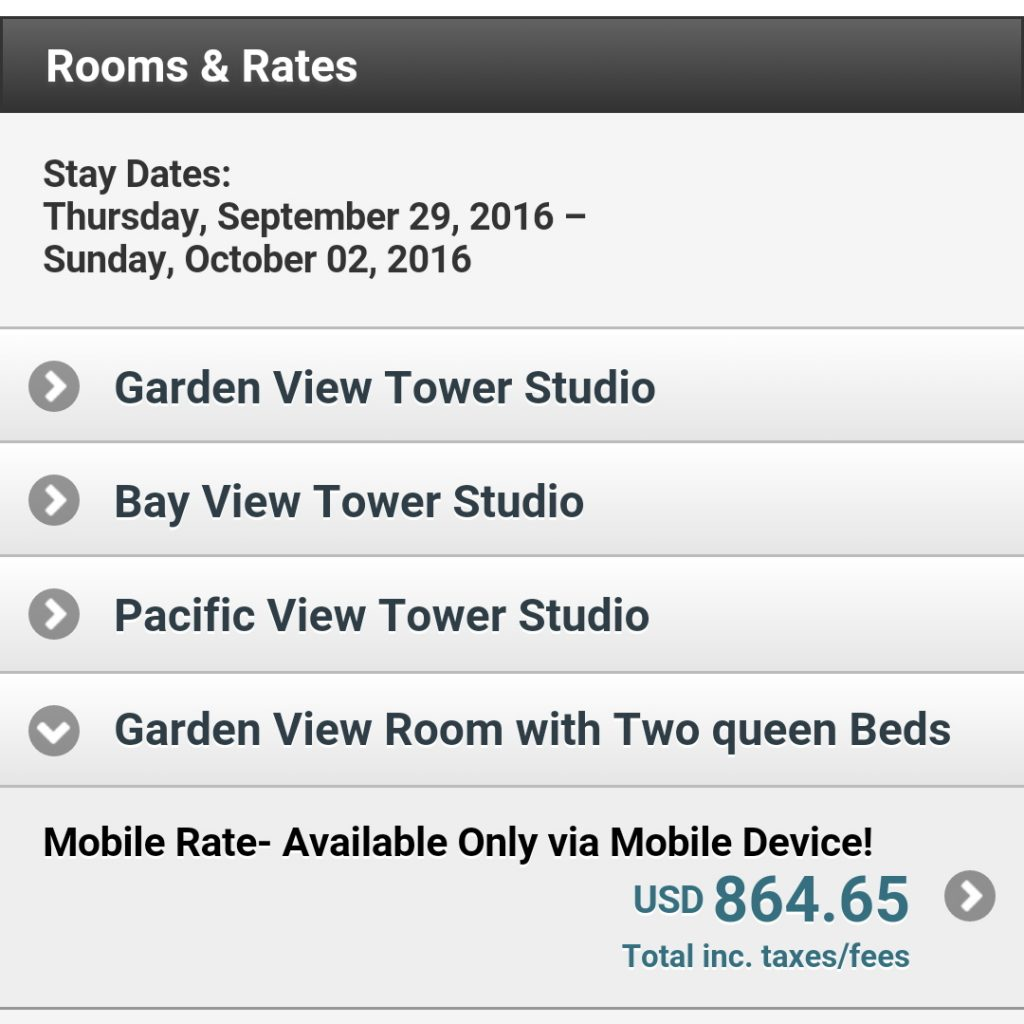 Hotel price given with mobile.