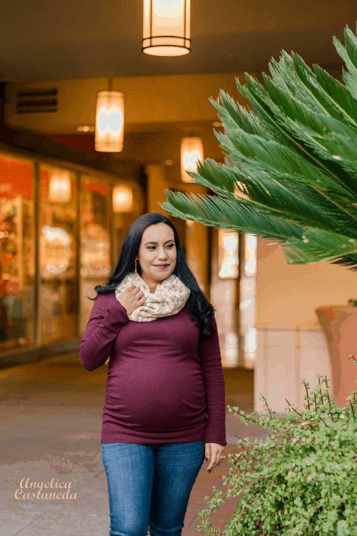 Maroon Maternity Sweater